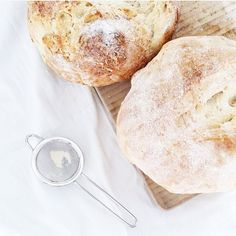 lovely fresh baked loaves - jamie oliver basic bread recipe pimped with parmesan/ olive oil + sea salt
