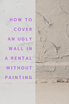 The Cheapest Way to Cover An Ugly Wall In A Rental Without Paint   dress your home