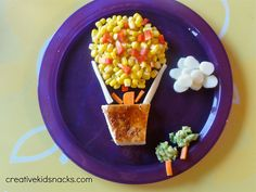 Healthy and Creative Kids Dinner: Hot Air Balloon Ride by Creative Kid Snacks, via Flickr