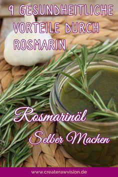 Rosmarinöl Selber Machen Rosemary is one of the medicinal herbs and is really good for your health. Healthy Food List, Healthy Diet Plans, Healthy Tips, High Fiber Cereal, Daily Health Tips, Medicinal Herbs, Low Calorie Recipes, Food Lists, Natural Health