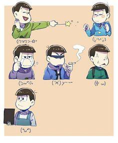 Osomatsu -san Emoticons (2/2)