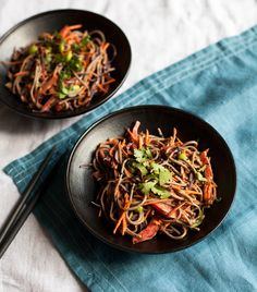 This easy tahini and soba noodles salad comes together without any fuss. It's healthy, flavorful, and full of protein and crunch.