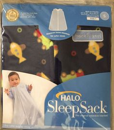 Halo Sleep Sack Navy Blue Fleece Travel Time Small 0 6 MO 10 18 lbs Brand New | eBay