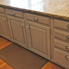 we used annie sloan chalk paint and custom mixed 50 pure white and 50 chalk paint kitchen cabinetspainted