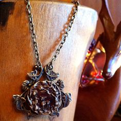 White Hart & Ivy Deer Pendant by wychbury on Etsy, $26.00