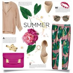 Summer by bogira on Polyvore featuring polyvore fashion style Zara H&M J.Crew Sophie Hulme Movado Valentino Fendi Diane James Laura Cole summerstyle summer2015