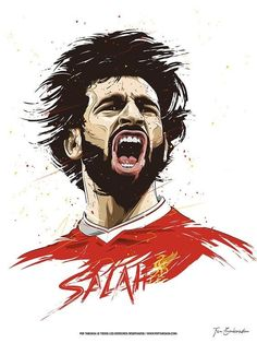 Mohamed Salah w wersji rysunkowej Liverpool FC Liverpool Champions League, Liverpool Football Club, Best Football Players, Football Art, Football Player Drawing, Mohamed Salah Liverpool, Premier League, Liverpool Fc Wallpaper, Lionel Messi Barcelona