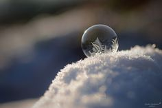 This Is What Happens To A Soap Bubble In Winter