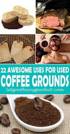 22 Uses for Used Coffee Grounds Don't throw those used coffee grounds into the trash! Upcycle them in 22 useful and awesome ways. Upcycle used coffee grounds into beauty products facial scrub composting and even food cooking recipes. Coffee Grounds Beauty, Uses For Coffee Grounds, Coffee Uses, Coffee Works, Fresh Coffee, Hot Coffee, Coffee Ground Scrub, Coffee Scrub, Coffee Soap