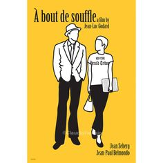 Film poster A bout de Souffle, or Breathless. What a stylistic delight :)