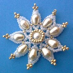 Victoriya Katamashvili. Beaded Delicate Flower Step 1