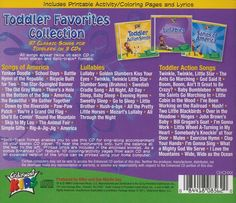 Toddler Favorites Collection Back Cover