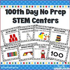 Time 4 Kindergarten: 100th Day of School Stem Activities