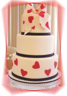 Heart Wedding By rayven on CakeCentral.com