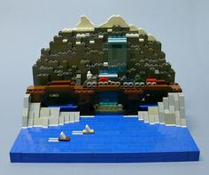 Across the Falls: A LEGO® creation by Lego Builders : MOCpages.com