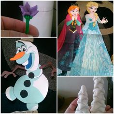 frozen characters and fondant accessories for frozen cake