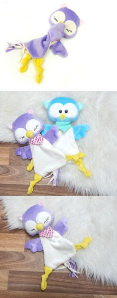 Schnuffeltuch and cuddly toy owl - sewing instructions and cut .- Schnuffeltuch und Kuscheltier Eule – Nähanleitung und Schnittmuster via Makeris… Schnuffeltuch and cuddly toy owl – sewing instructions and pattern via Makerist. Owl Sewing, Sewing Toys, Sewing For Kids, Baby Sewing, Sewing Crafts, Sewing Projects, Pet Toys, Doll Toys, Baby Toys