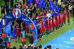 #EURO2016 Portugal clap France off the field following the European Championship Final between Portugal and France at Stade de France on July 10 2016 in Paris...