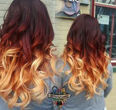 Love this high contrast color melt ombre video coming soon thee official Alyssa Ray ombre ™✔ We are want to say thanks if you like to share t. Yellow Hair Color, Hair Dye Colors, Ombre Hair Color, Cool Hair Color, Pelo Cafe, Fire Hair, Fire Ombre Hair, Hair Painting, Pretty Hairstyles