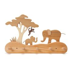 jungle coatrack - Nova Natural Toys & Crafts   Natural Toys, Jungle Animals, Wood Toys, Projects To Try, Cnc Projects, Jungles, Wood Crafts, Kids Toys, Woodworking Projects
