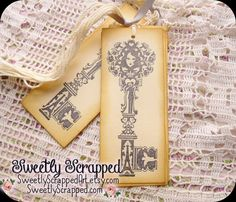 Wedding Keys Tags Skeleton Key Vintage by SweetlyScrappedArt