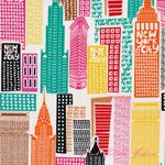 Greta Lynn The Big Apple Sky Scrapers White [BT-5851-99] - $10.45 : Pink Chalk Fabrics is your online source for modern quilting cottons and sewing patterns., Cloth, Pattern + Tool for Modern Sewists