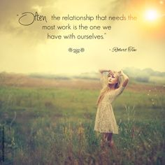 """""""Often the relationship that needs the most work is the one we have with ourselves."""" - Robert Tew  www.melissaferrari.com.au"""