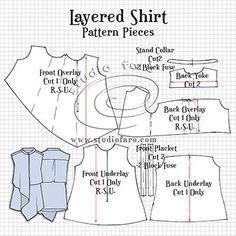 Layered Shirt Pattern Making