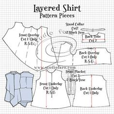 Layered Shirt Pattern Making