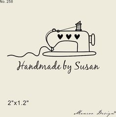 Custom Logo Stamp Custom Stamp-sewing love custom by mancoostamp
