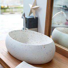 Vasque de salle de bain en terrazzo Orion confetti 55 TIKAMOON