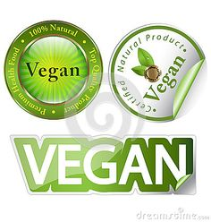 Vegan label set by Stocklady36, via Dreamstime