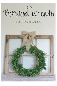 Make and put on the Living room door above the couch. This is such a quick, easy. : Make and put on the Living room door above the couch. This is such a quick, easy, and cheap tutorial for making you own DIY Boxwood Wreath! Diy Home Decor For Apartments, Diy Home Decor Projects, Easy Home Decor, Cheap Home Decor, Diy Décoration, Easy Diy, Diy Crafts, Decor Crafts, Do It Yourself Inspiration