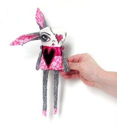 Art Doll Paisly Pink Princess by OddballArtCo, $15.00
