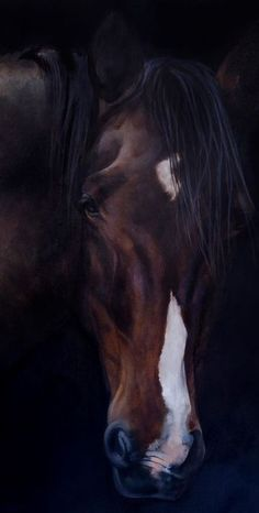 'Tribute to Jessie' Fine Art Horse Painting by Equine Artist Tony O'Connor (cropped for Pinterest)