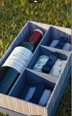 Presente para padrinhos 1 sem o vinho é claro, colocaria outra coisa!!!