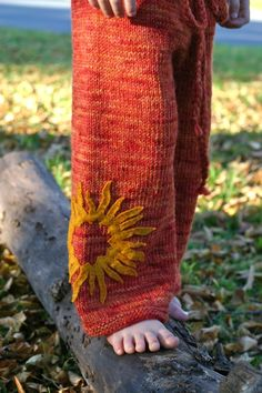 "inspiration: Indian Summer Wide Leg Longies from Elizabeth (thesittingtree) **NB: I purchased the ""Birchbark Longies"" pattern for kid sizes and it is beautifully written. The resulting longies for my four year old are fantastic, and I plan to knit more this year for both boys! -V"