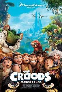 the croods, Kirk DeMicco, Chris Sanders This is one of the better Dreamworks computer animated movies I've seen (along with How To Train Your Dragon). It's a little repetitive, but overall it was fun and felt surprisingly fresh. Nicolas Cage, Film D'animation, Film Serie, Love Movie, Movie Tv, Movie Titles, Movie Theater, Theatre, Movie Posters