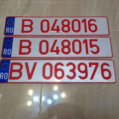 Catawiki online auction house: 3 PROVISIONAL CAR PLATES ROMANIA