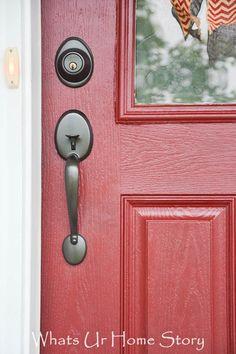 how to paint a front door tutorial