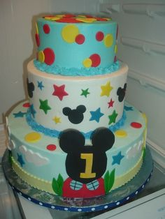 Maybe a number 4 on a large Mickey Mouse cutout