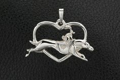 Sterling Silver Greyhound Pendant with Chain. 25% off through May 10th.  Apply Coupon MOTHERSDAYOFF25 at register