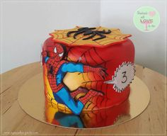 Hi all:))i made this cake for charity lottery. Cake is airbrushed and hand-painted. Spiderman is hand cut and hand-painted, on the last picture is how i paint him:) I realy had a great time making this cake:))hope You like it too:))▪(not by Angie) Spiderman Birthday Cake, Spiderman Theme, 4th Birthday Cakes, Novelty Birthday Cakes, Superhero Cake, Amazing Spiderman, Marvel Cake, Marvel Avengers, Airbrush Cake