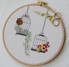Wonderful Ribbon Embroidery Flowers by Hand Ideas. Enchanting Ribbon Embroidery Flowers by Hand Ideas. Hand Embroidery Stitches, Silk Ribbon Embroidery, Embroidery Hoop Art, Hand Embroidery Designs, Crewel Embroidery, Cross Stitch Embroidery, Embroidery Ideas, Machine Embroidery, Embroidery Monogram