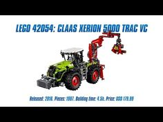 'LEGO Technic 42054: CLAAS XERION 5000 TRAC VC' Unboxing, Parts List, Speed Build & Review - YouTube