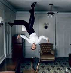 Ellen DeGeneres pays homage to Fred Astaire's famous scene in the 1951 film Royal Wedding by Annie Leibovitz