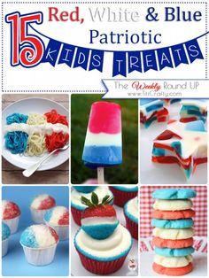 15 Red, white  Blue Patriotic Kids Treats