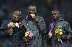 Botswana's Nijel Amos won the first medal in his nation's history in the Olympics. He came in second place behind Kenya's David Lekuta Rudisha, who set a new world record in the men's 800-meter.