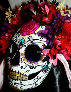 Love Dia de los Muertos stuff! CUSTOM Calavera Sugar Skull Mask Folk Art ''''' by LilBittyFish, $50.00