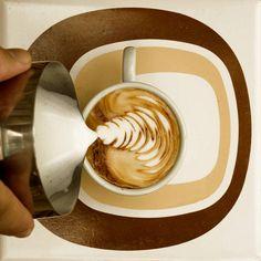 chrismas tree with latte